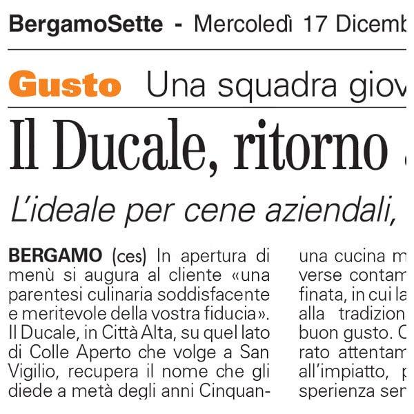 Ristorante Il Ducale Bergamo, ristorante bergamo, ristorante città alta